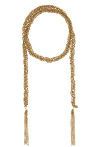 Coast Long sparkle chain necklace