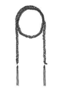Long sparkle chain necklace