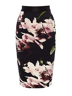 Coast Winter lily pencil skirt