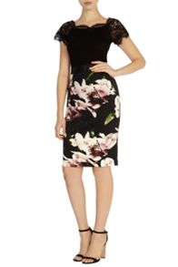 Winter lily pencil skirt