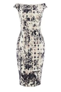Coast Mono print teegan dress