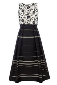 Coast Dorian stripe skirt dress