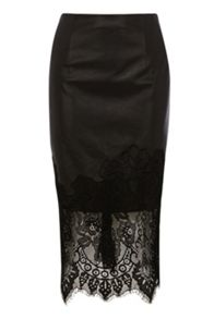 Coast Vega lace trim pencil skirt