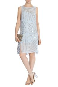 Coast Embellished palm dress