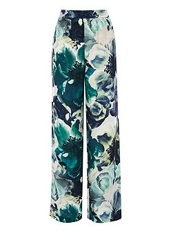 Rome printed wide leg trousers