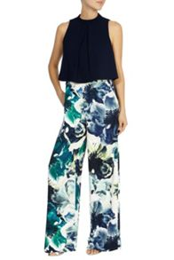 Coast Rome printed wide leg trousers