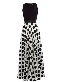 Dotty Maxi Dress Petite