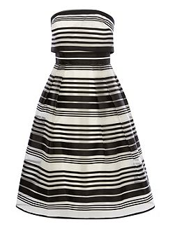 Evie Stripe Bandeau Dress