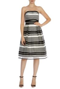 Coast Evie Stripe Bandeau Dress