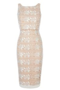 Coast Cerelia Geo Lace Shift Dress