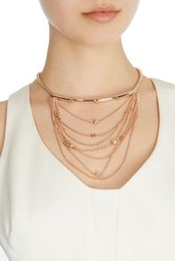 Coast Bertee bar rose gold necklace