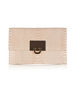 Filippa Snake Skin Clutch Bag