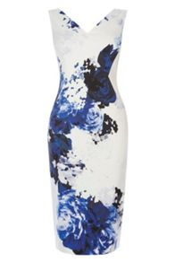Coast Cairo Print Miya Shift Dress