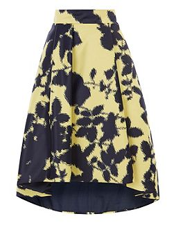 Zainy Printed High Low Skirt