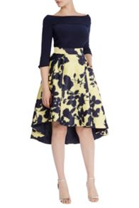 Coast Zainy Printed High Low Skirt