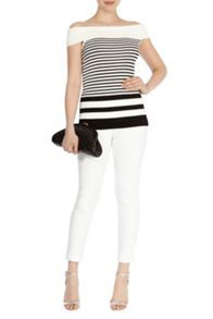 Coast Valentina Mono Stripe Knit Top