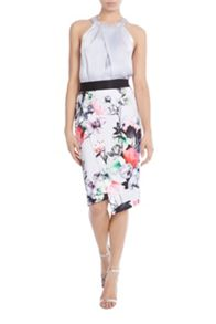 Coast Leche Print Pencil Skirt