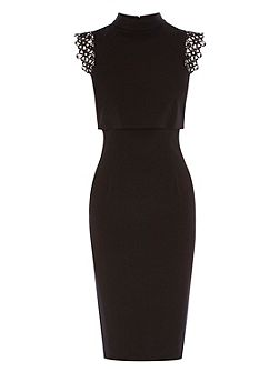 Beatrix Lace Trim Shift Dress