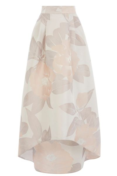 Coast Floral Jacquard Highlow Skirt