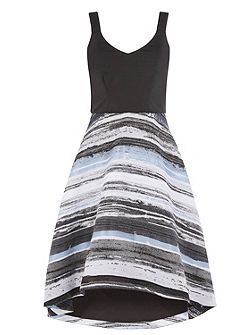 Riley Stripe Skirt Dress Shorter Length