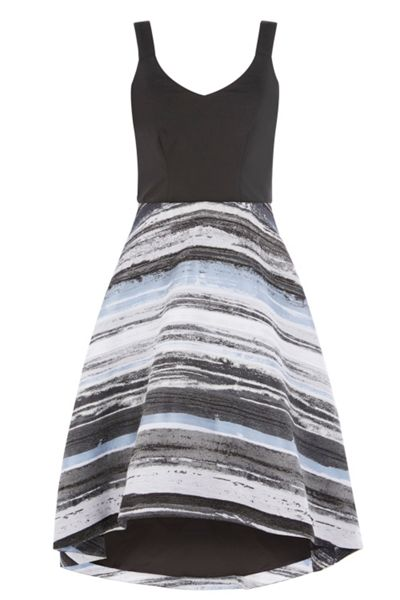 Coast Riley Stripe Skirt Dress Shorter Length