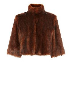 Sadah Faux Fur Cover Up