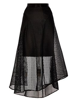 Elin Mesh High Low Skirt