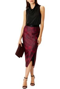 Coast Beattie Print Pencil Skirt