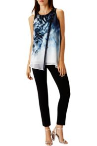 Coast Minimal Print Tunic Top