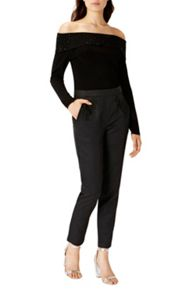 Coast Eleanor Lace Trim Trousers