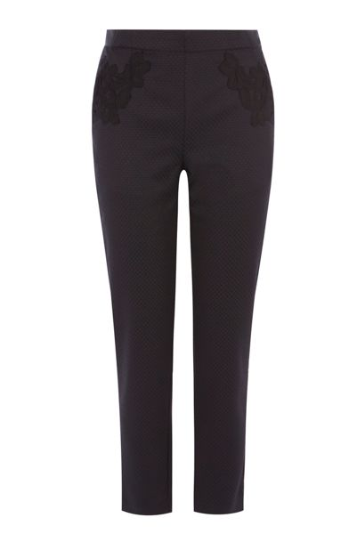 Coast Eleanor Lace Trim Trousers Shorter Length