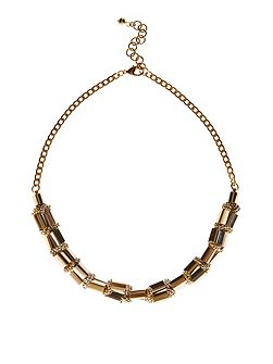 Lucia Block Bar Necklace