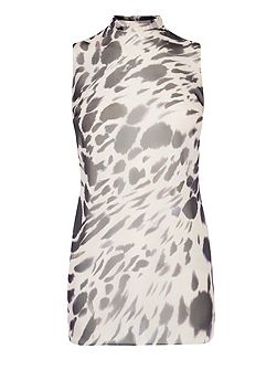 Shay Animal Print Tunic Top