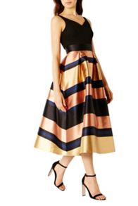 Coast Rita Metalic Stripe Dress