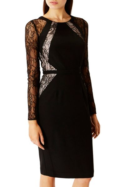 Coast Leonoria Lace Panel Dress Shorter Length