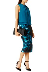 Coast Ozar Printed Pencil Skirt