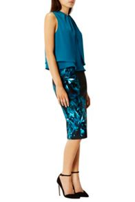 Coast Ozar Printed Pencil Skirt Shorter Length