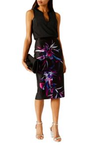 Coast Hudson Print Pencil Skirt
