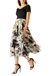 Coast Oali Print Kadrianna Dress Shorter Length