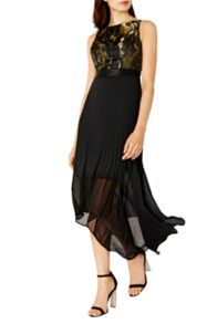 Coast Ervina Jacquard Pleated Dress