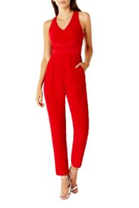 Coast Viola Halter Neck Jumpsuit Shorter Length