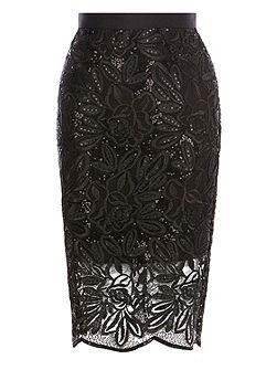 Lillian Lace Pencil Skirt
