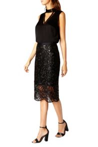 Coast Lillian Lace Pencil Skirt