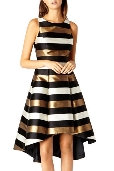Coast Metallic Stripe Makena Dress