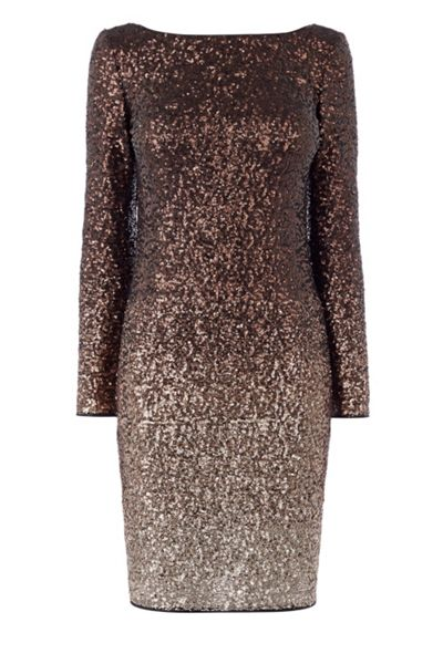 Coast Demi Ombre Sequin Dress