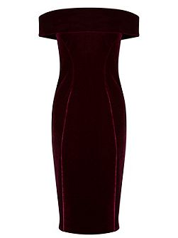 Cavalleri Bardot Velvet Dress