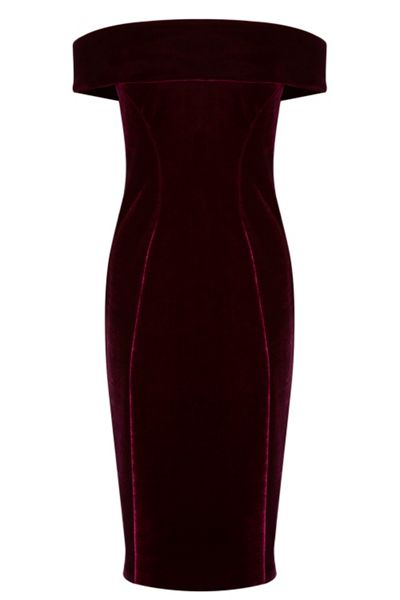 Coast Cavalleri Bardot Velvet Dress