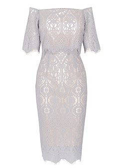 Marsha Lace Dress Shorter Length