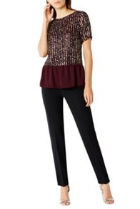 Coast Amiath Sequin Peplum Top