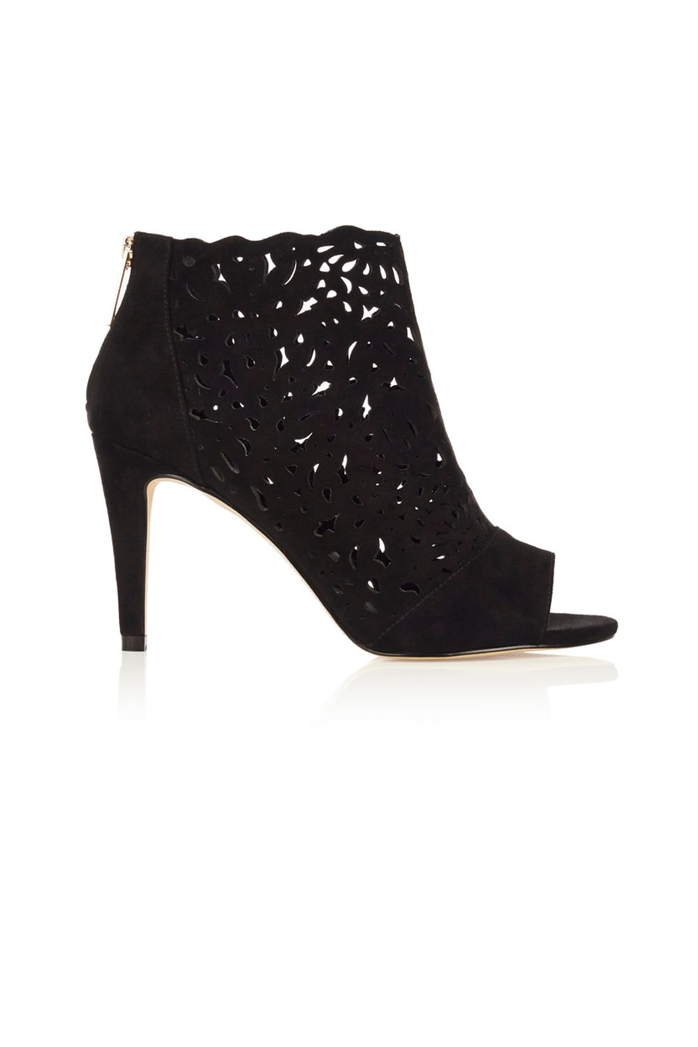 Coast Coast Lizeth Laser Cut Shoes, Black